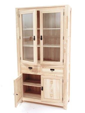 Vaisselier bois d'hévéa 4 portes TESSA