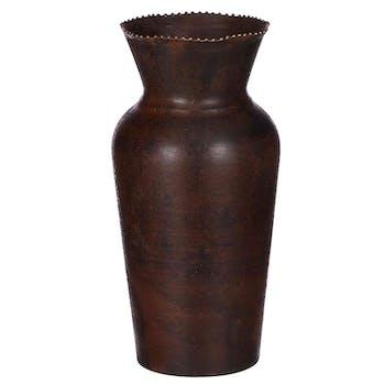 Vase col évasé couleur cuivre