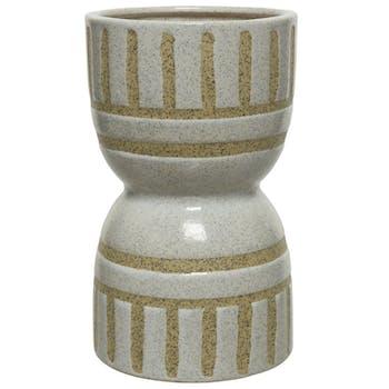 Vase en porcelaine forme bilboquet