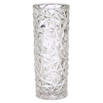 Vase en verre travaillé 30 cm