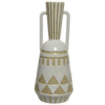 Vase forme amphore en porcelaine 35 cm