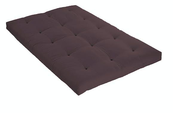 Véritable Futon coton 1 pers 90 X 190 cm chocolat