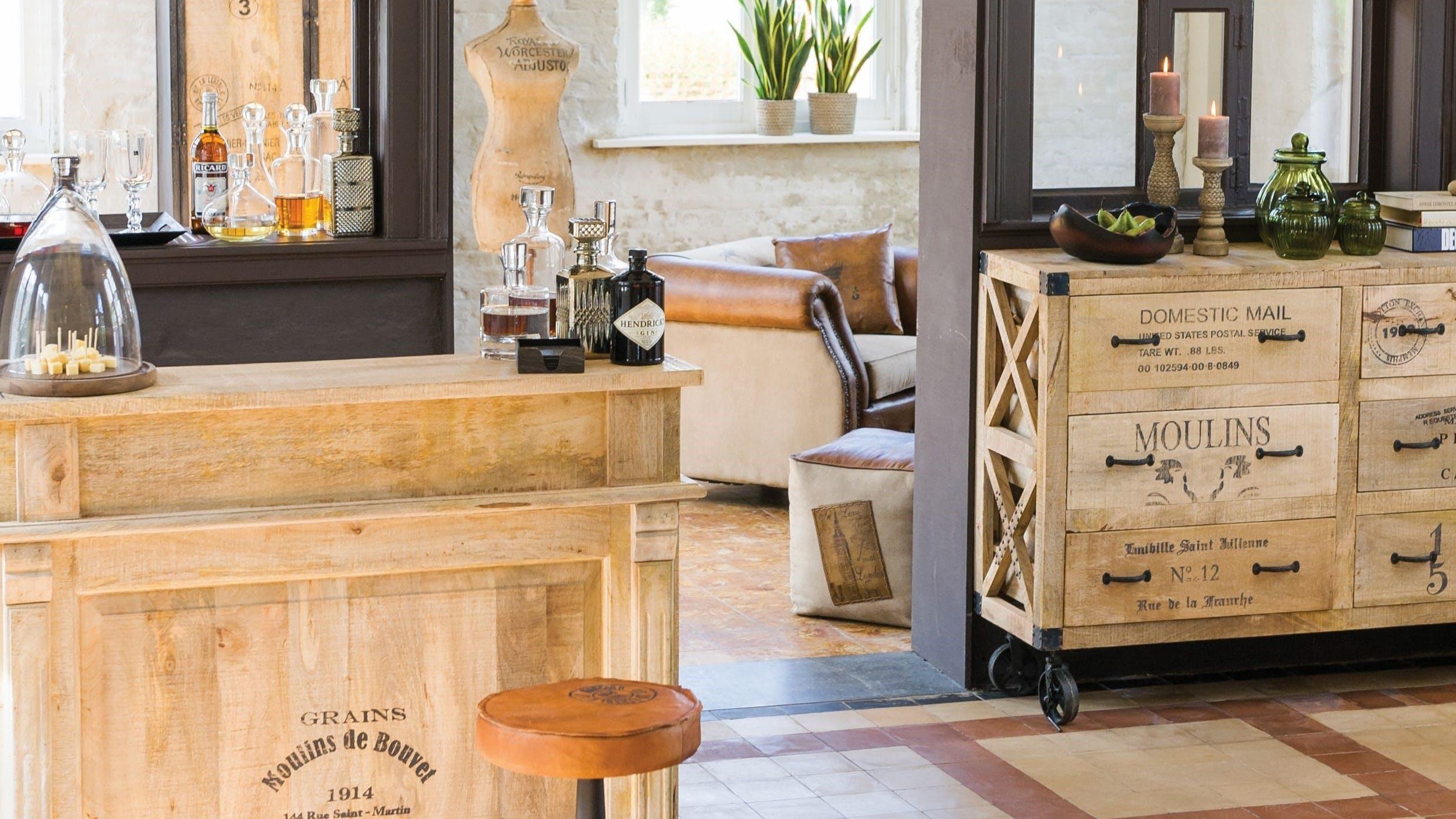 Chiffonniers et grainetiers en bois recyclé : avec tiroir, avec niche...
