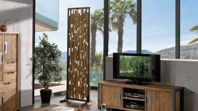 Paravents en bois recyclé : 3 vantaux, 4 vantaux...