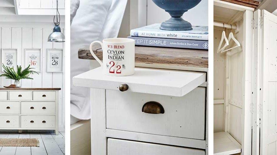 Meubles d'entrée - Rangement entrée en bois recyclé : console, table d'appoint...