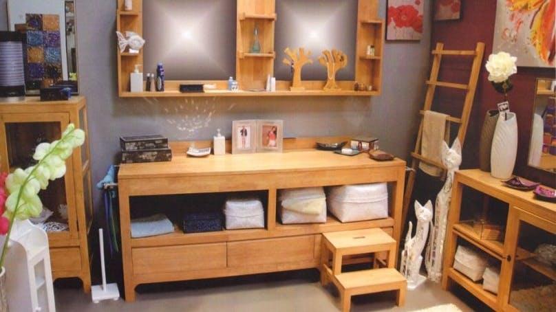Meubles de salle de bains : en bambou, en bois...