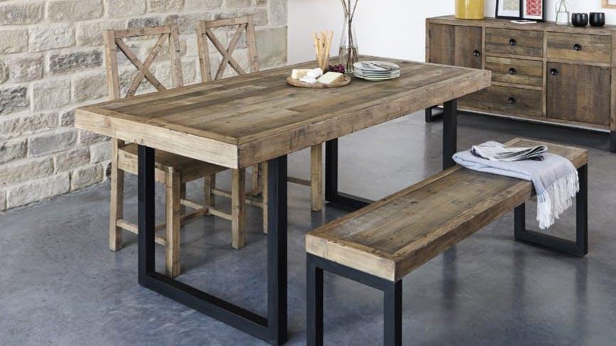 Tables à manger en bois recyclé : rectangulaire, ronde...