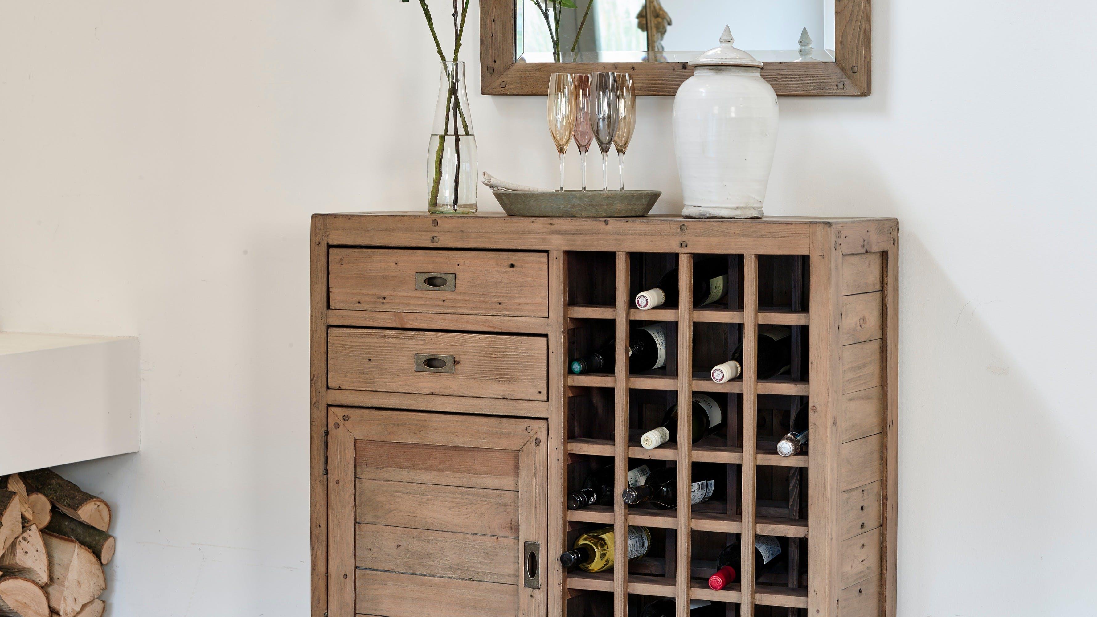 Meubles de rangement en bois recyclé : bibliothèque, coffre, buffet...