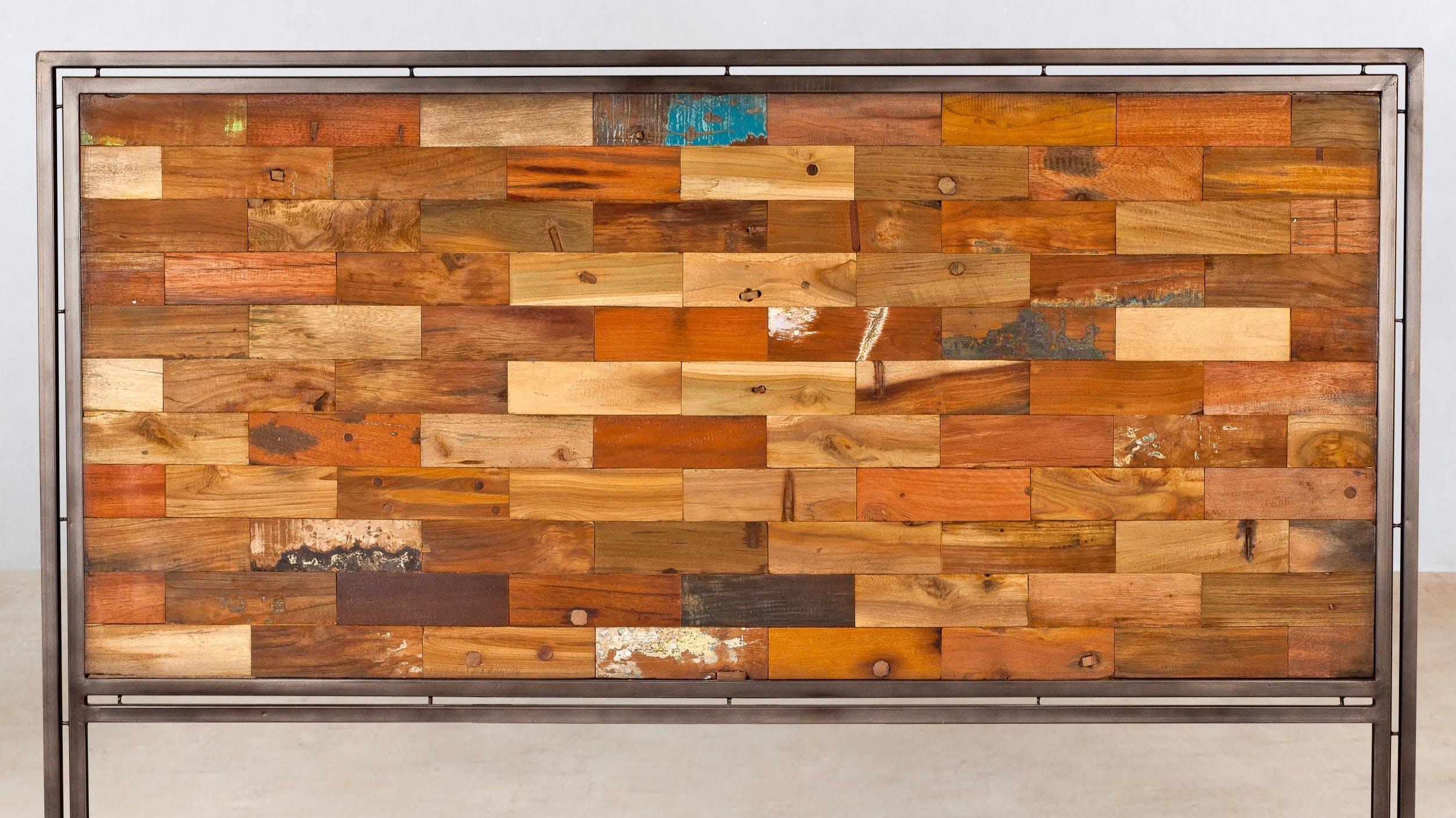 Têtes de lit en bois recyclé : en hévéa, en teck...