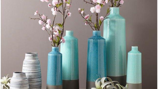 Vases : rond, haut...